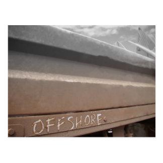 Surf surfboard offshore surfing Grey brown Postcard