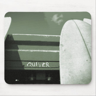 Surf surfboard quiver surfing green white mouse pad