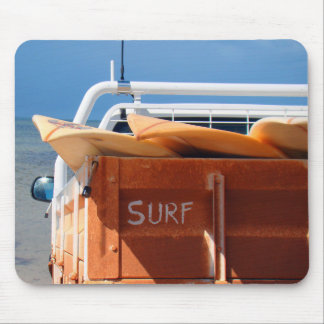 Surf surfboard surfing blue brown mouse pad
