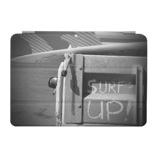 Surf surfboard surf's Up surfing black and white iPad Mini Cover