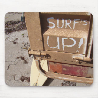 Surf surfboard surf's up surfing grey brown mouse pad