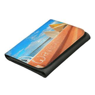 Surf surfboard waves surfing blue orange wallet