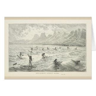 Surf-Swimming, Sandwich Islands Card