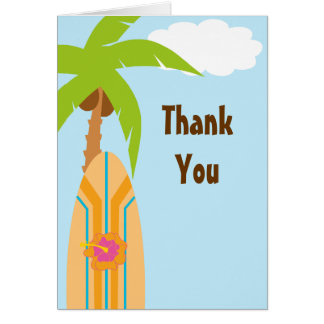 Surf Thank You Card