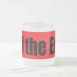 Surf The Earth Frosted Glass Mug