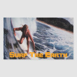 Surf the Earth Girl Surfing Sticker Decal Art