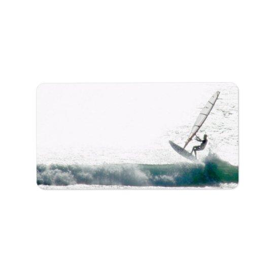 Surf the wind address label