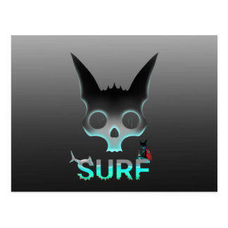 Surf Urban Graffiti Cool Cat Postcard