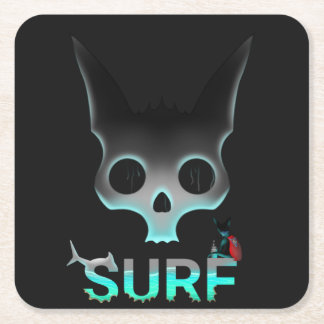 Surf Urban Graffiti Cool Cat Square Paper Coaster
