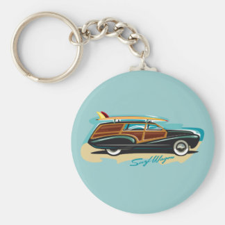 Surf Wagon Woody Key Ring