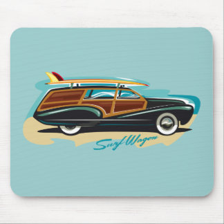 Surf Wagon Woody Mouse Pad