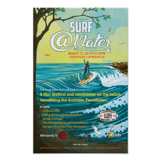 "Surf @Water Poster- 11"" x 17"" Poster"