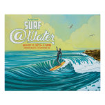 "Surf @Water surfer poster- 20"" x 16"""