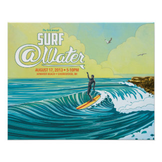 "Surf @Water surfer poster- 20"" x 16"" Poster"