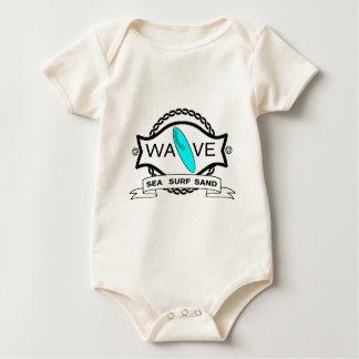 Surf Wave Sun Sea Sand Words Graphic Baby Bodysuit