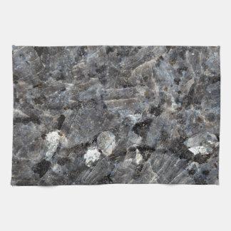 Surface of a Labradorite Rock Tea Towel
