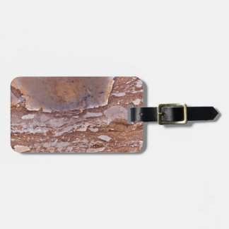 Surface of a red sandstone with siliceous geods luggage tag