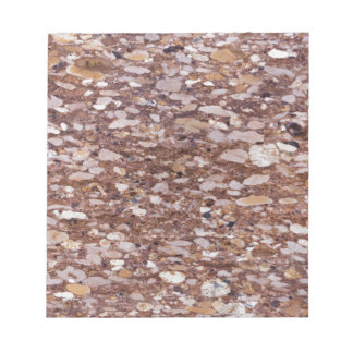 Surface of a red sandstone with siliceous geods notepad