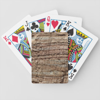 Surface of carbonate rock with weathering traces bicycle playing cards
