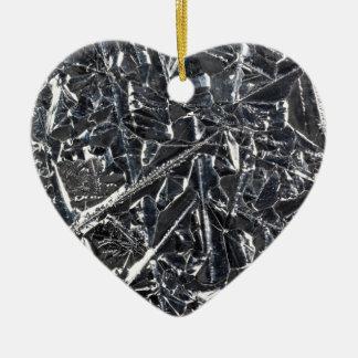 Surface of pure silicon crystals ceramic heart decoration
