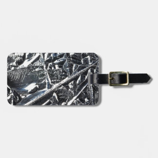 Surface of pure silicon crystals luggage tag