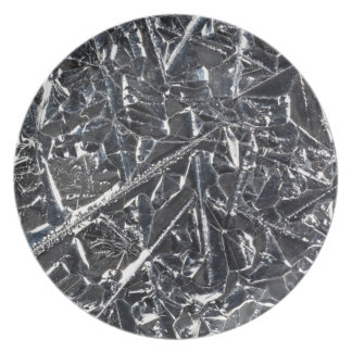 Surface of pure silicon crystals plate