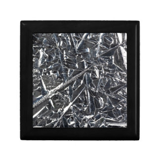 Surface of pure silicon crystals small square gift box