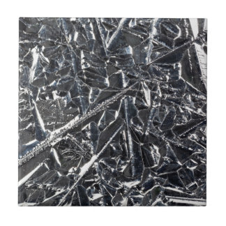 Surface of pure silicon crystals small square tile