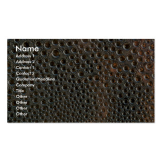Surface tension pack of standard business cards