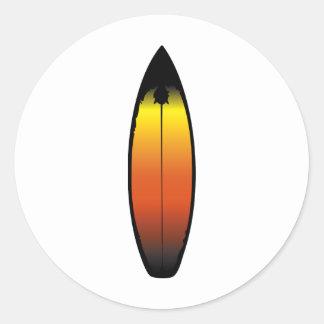 Surfboard Classic Round Sticker