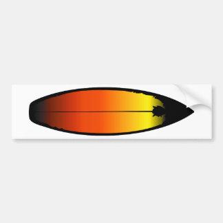 Surfboard Landscape Bumper Sticker