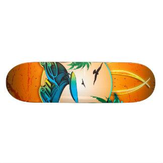 Surfboard on a round frame 19.7 cm skateboard deck