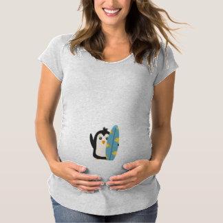 Surfboard Penguin Maternity T-Shirt