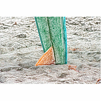 surfboard sketch on beach sea design acrylic cut out
