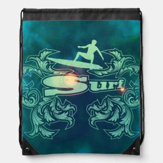 Surfboarder Drawstring Bag