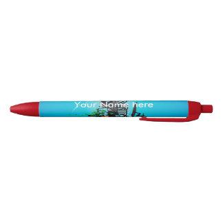 Surfboarder Red Ink Pen