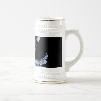 Surfboarder with decorative, elegant damasks coffee mugs