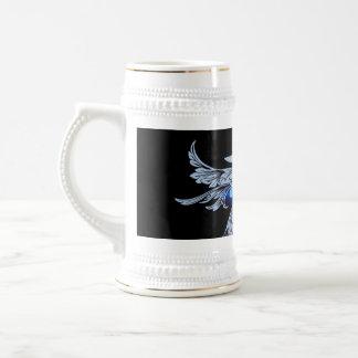 Surfboarder with decorative, elegant damasks coffee mug