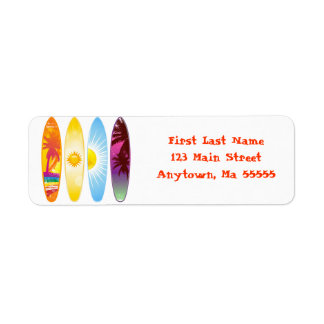 Surfboards Address Labels