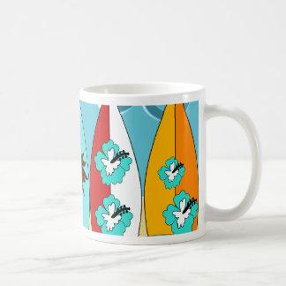 Surfboards Beach Bum Surfing Hippie Vans Coffee Mug
