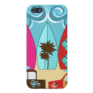Surfboards Beach Bum Surfing Hippie Vans iPhone 5/5S Case