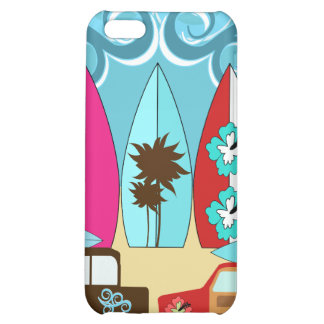Surfboards Beach Bum Surfing Hippie Vans Cover For iPhone 5C