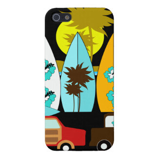 Surfboards Beach Bum Surfing Hippie Vans Cover For iPhone 5/5S