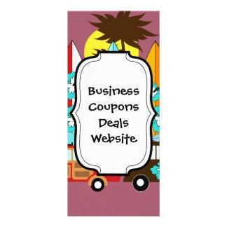 Surfboards Beach Bum Surfing Hippie Vans Rack Card Design