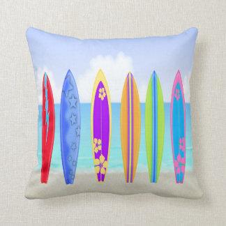 Surfboard Cushions - Square Surfboard Throw Cushions Zazzle
