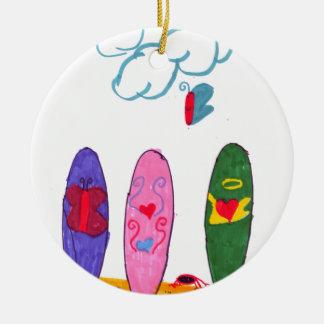 Surfboards Ceramic Ornament