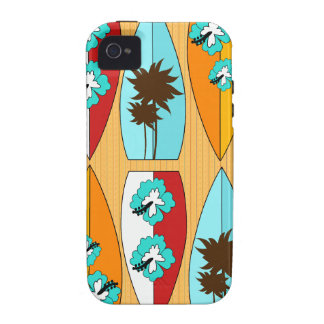 Surfboards on the Boardwalk Summer Beach Theme iPhone 4 Cover