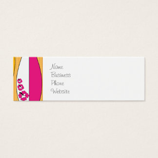 Surfboards on the Boardwalk Summer Beach Theme Mini Business Card
