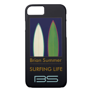 surfboards personalized surf-themed iPhone 7 case