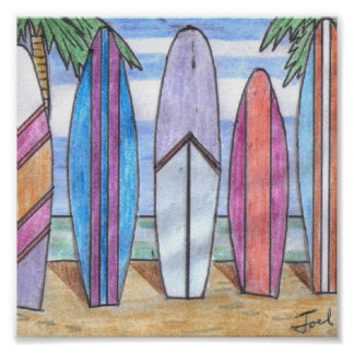 "SURFBOARDS print (7.33""x7.33"")"
